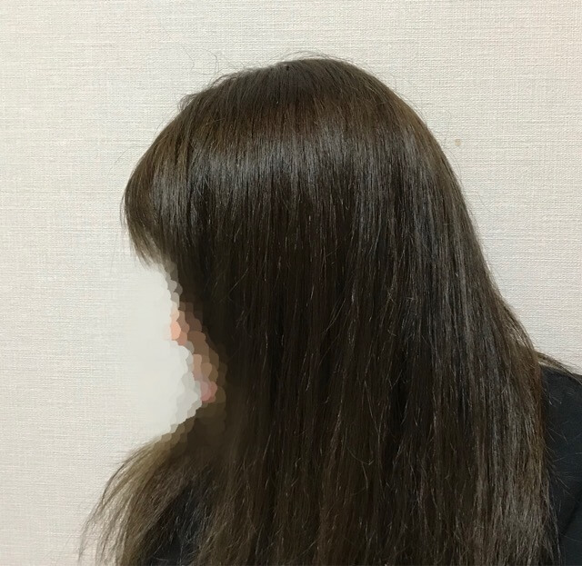 嫁の髪の毛