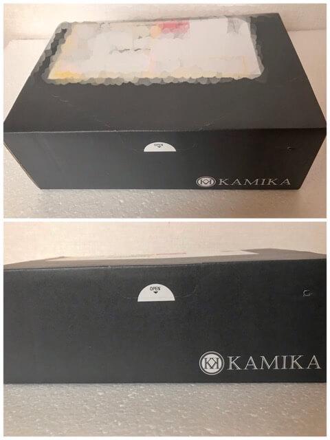 カミカ黒髪シャンプーの恰好良い黒い箱