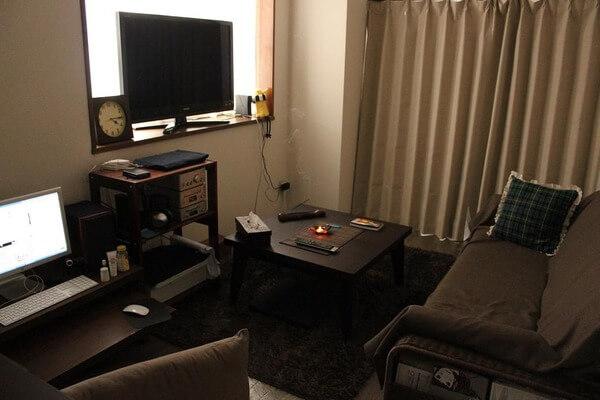 茶色の部屋